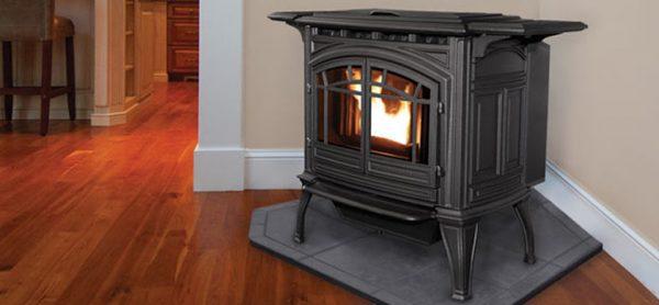 Enviro M55 Cast Iron Pellet Freestanding Stove - Enviro – InSeason Fireplaces • Stoves • Grills • Rochester, NY