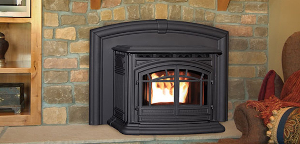 Enviro M55 Cast Iron Pellet Fireplace Insert Inseason Fireplaces Stoves Grills Rochester Ny