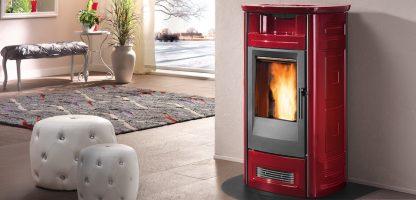 Piazzetta P963c_bordeaux pellet stove